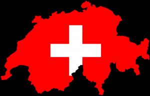 Karte Schweiz mit Flagge